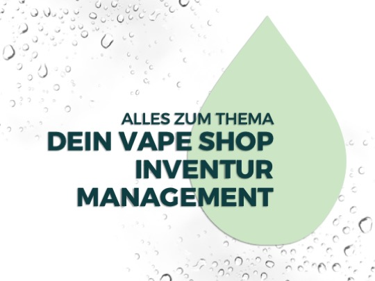 Vape Shop Inventur Management